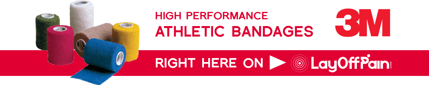 High performance Athletic bandages right here on Lay Off Pain